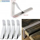 4Pcs/Lot Stainless Steel Tablecloth Holder Cover Clips Table Clamps Rack