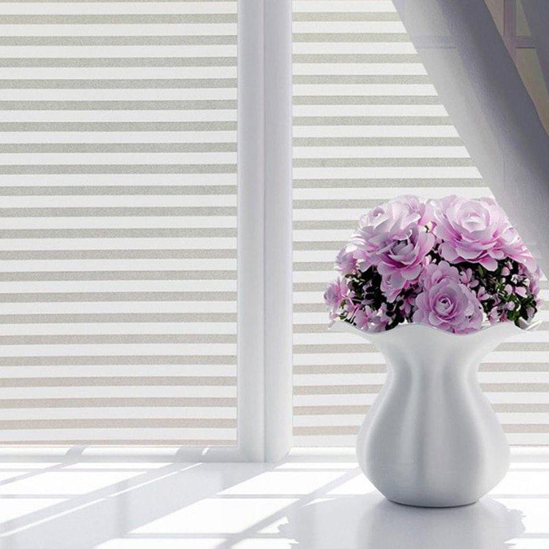 Film Window Decorative Film Frosted Glass  Door Bathroom Window Translucent Opaque Style 9