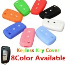 2 Buttons Silicone Fob Remote Key Case Cover Shell For Nissan Qashqai Key Protector