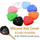 4 Button Silicone Car Keyless Remote Key Case Shell Cover For TOYOTA Corolla Camry