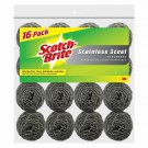 Scotch Brite Stainless Steel Scrubbers Dishwashing Pots Pans Scouring Pads16 ct.