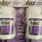 2 X ROBAX Platinum Muscle and Back Pain Relief 102 Caplets Canadian Made in and From canada