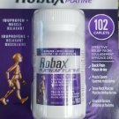 ROBAX Platinum Muscle and Back Pain Relief 102 Caplets Canadian Made in and From canada
