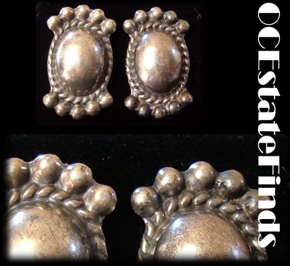 Estate Find - Vintage ART DECO Sterling Silver Earrings