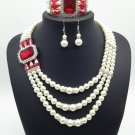 Traditional big jewellery pendant necklaces, cheap pearl jewelry necklace