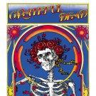 GRATEFUL DEAD Skull & Roses BANNER Huge 4X4 Ft Fabric Poster Tapestry Flag Print album cover art