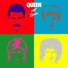 QUEEN Hot Space BANNER Huge 4X4 Ft Fabric Poster Tapestry Flag Print album cover art