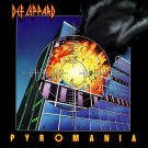 DEF LEPPARD Pyromania BANNER Huge 4X4 Ft Fabric Poster Tapestry Flag Print album cover art