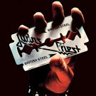 JUDAS PRIEST British Steel BANNER Huge 4X4 Ft Fabric Poster Tapestry Flag Print album cover art