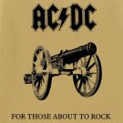 AC/DC For Those About to Rock BANNER Huge 4X4 Ft Fabric Poster Tapestry Flag Print album cover art
