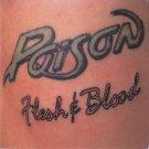 POISON Flesh & Blood BANNER Huge 4X4 Ft Fabric Poster Tapestry Flag Print album art