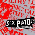 SEX PISTOLS Filthy Lucre Live BANNER Huge 4X4 Ft Fabric Poster Tapestry Flag Print album cover art