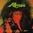 POISON Open Up And Say Ahh BANNER Huge 4X4 Ft Fabric Poster Tapestry Flag Print album art