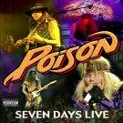 POISON Seven Days Live BANNER Huge 4X4 Ft Fabric Poster Tapestry Flag Print album cover art