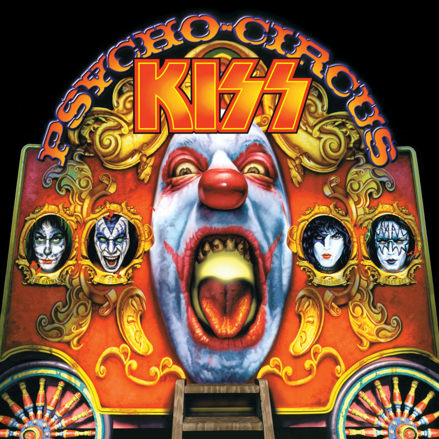 KISS Psycho Circus BANNER Huge 4X4 Ft Fabric Poster Tapestry Flag Print album cover art