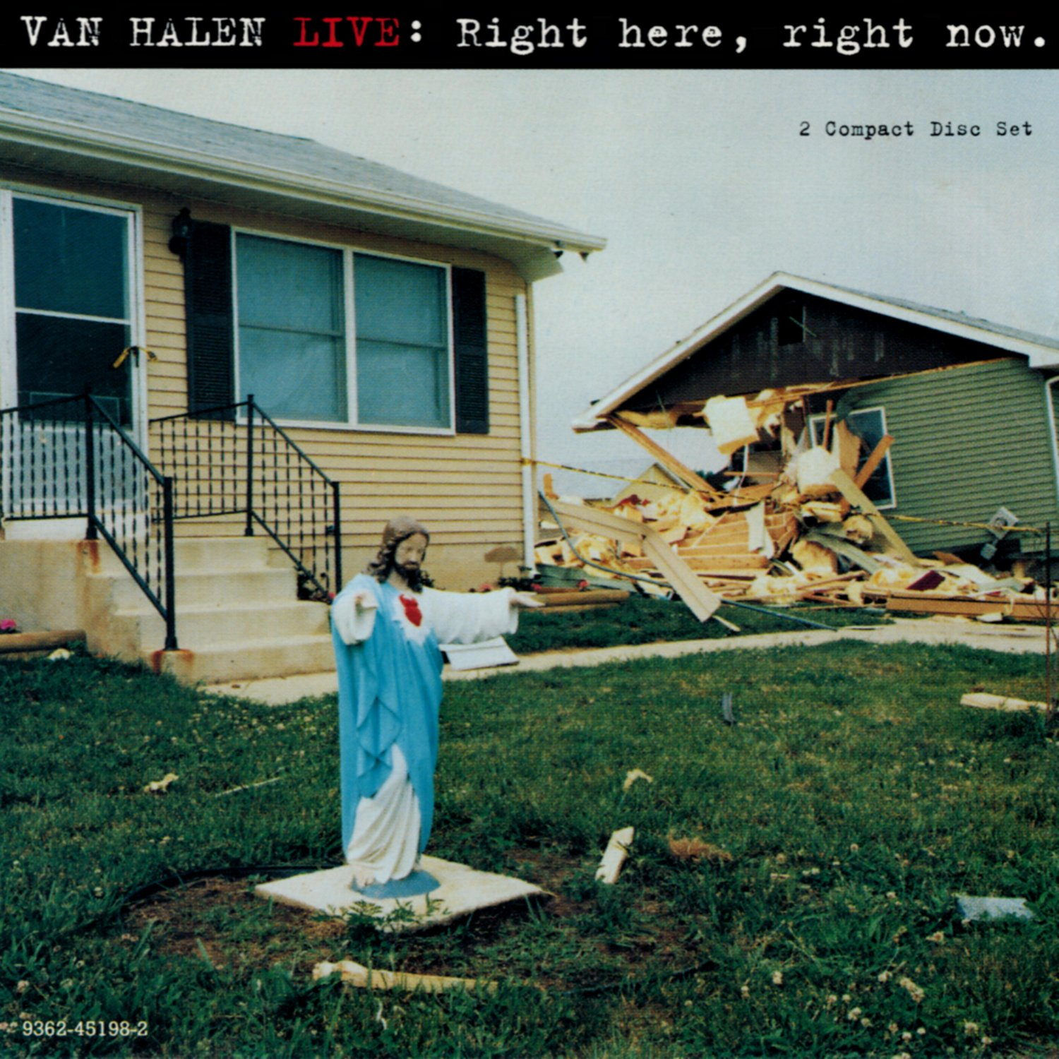 VAN HALEN Live: Right Here Right Now BANNER Huge 4X4 Ft Fabric Poster Tapestry Flag album cover art