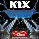 KIX Blow My Fuse BANNER Huge 4X4 Ft Fabric Poster Tapestry Flag Print album cover art