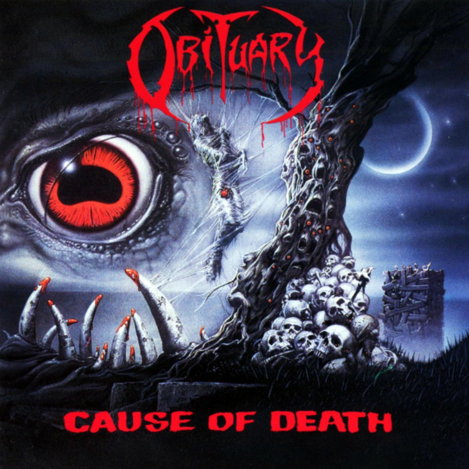 OBITUARY Cause of Death BANNER Huge 4X4 Ft Fabric Poster Tapestry Flag Print album cover art