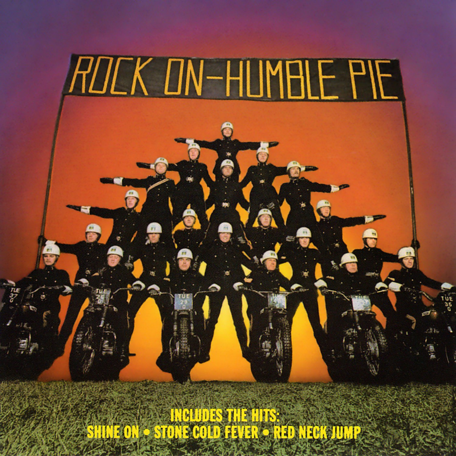 HUMBLE PIE Rock On BANNER Huge 4X4 Ft Fabric Poster Tapestry Flag Print album cover art