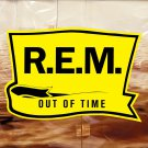 R.E.M. Out Of Time BANNER Huge 4X4 Ft Fabric Poster Tapestry Flag Print album cover art