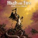HIGH ON FIRE Snakes For The Divine BANNER Huge 4X4 Ft Fabric Poster Tapestry Flag album cover art