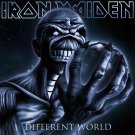 IRON MAIDEN Different World BANNER Huge 4X4 Ft Fabric Poster Tapestry Flag Print album cover art