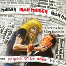 IRON MAIDEN Be Quick Or Be Dead BANNER Huge 4X4 Ft Fabric Poster Tapestry Flag Print album cover art
