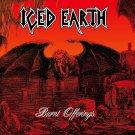 ICED EARTH Burnt Offerings BANNER Huge 4X4 Ft Fabric Poster Tapestry Flag Print album cover art