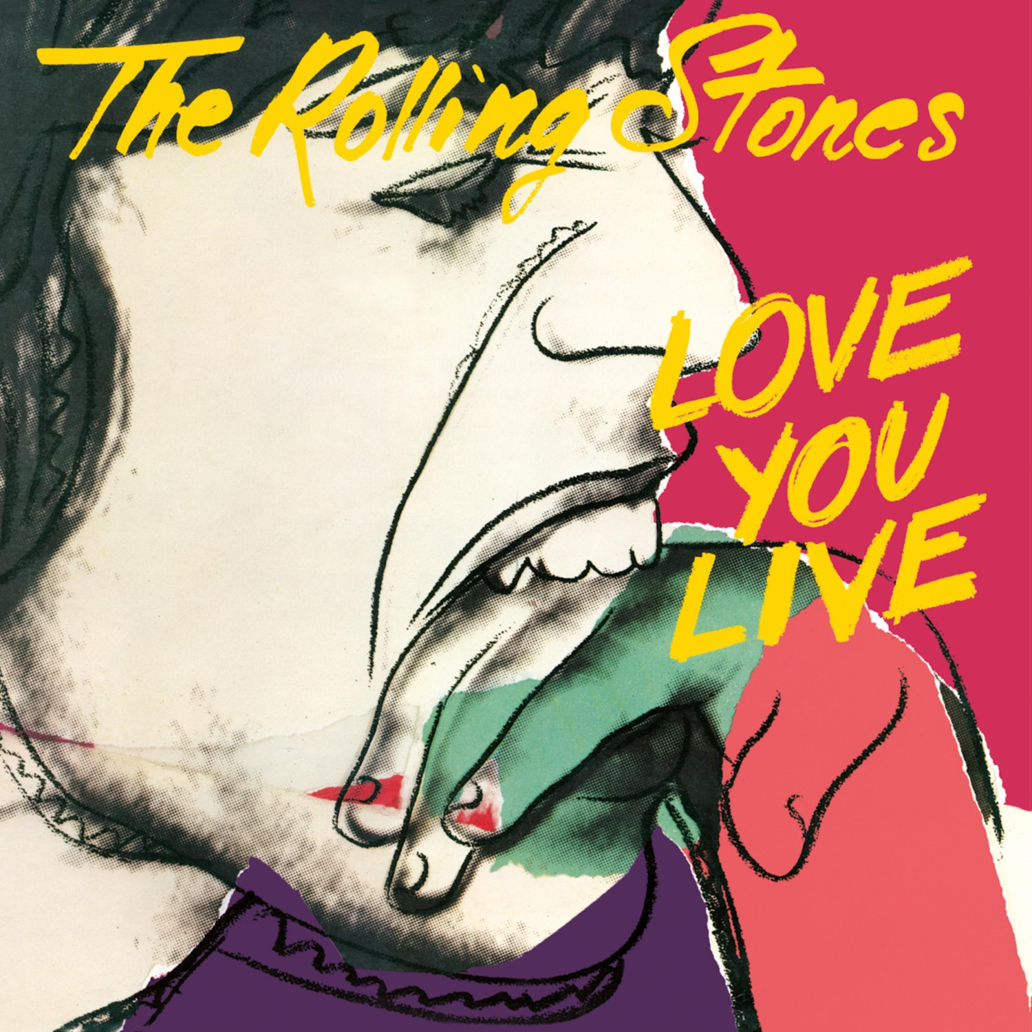 ROLLING STONES Love You Live BANNER Huge 4X4 Ft Fabric Poster Tapestry Flag Print album cover art