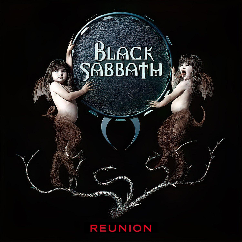 BLACK SABBATH Reunion BANNER Huge 4X4 Ft Fabric Poster Tapestry Flag Print album cover art