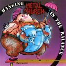 METAL CHURCH Hanging in the Balance BANNER Huge 4X4 Ft Fabric Poster Tapestry Flag album cover art