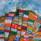 RADIOHEAD Hail to the Thief BANNER Huge 4X4 Ft Fabric Poster Tapestry Flag Print album cover art