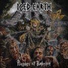 ICED EARTH Plagues of Babylon BANNER Huge 4X4 Ft Fabric Poster Tapestry Flag Print album cover art