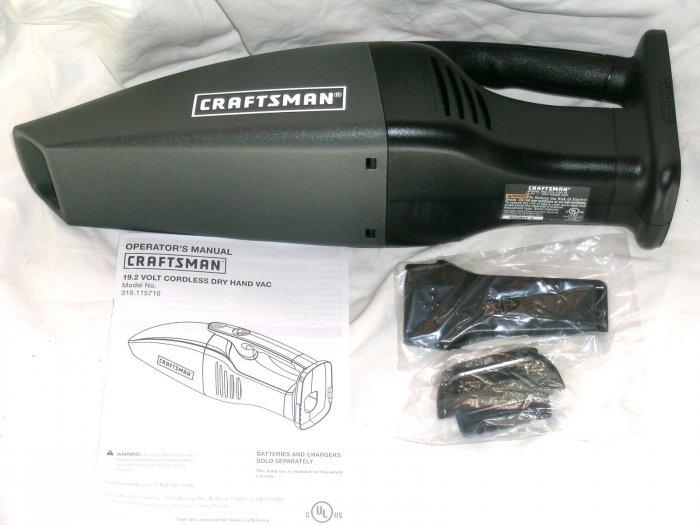 NEW! Craftsman 19.2V Volt Vacuum Vac w/ tools #115710
