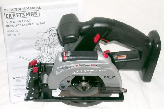 NEW Craftsman SEARS 19.2 Volt laser trim saw circular saw.  EX Diehard and C-3 battery NOT included