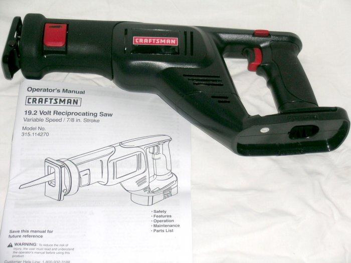 NEW! Craftsman SEARS 19.2V Volt reciprocating saw VS #114270 EX Diehard C-3 battery systems