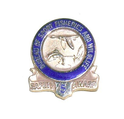 Bureau of Sport Fisheries and Wildlife 20 year Safety Award tie tack gold US Fish & Wildlife Service