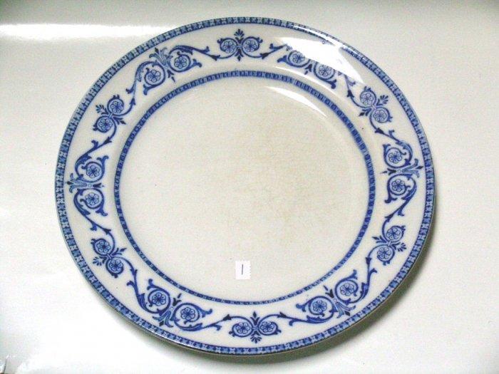 Burgess & Leigh Dinner Plate #1 LEIGHTON semi-porcelain ENGLAND middleport Pottery Burslem