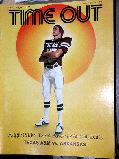 Texas A&M Aggie Football Arkansas 1981 Kyle Field pigs