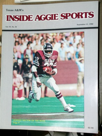 Jackie Sherrill Texas A&M Football Inside Aggie Sports Vol IV, No IX September 11, 1982