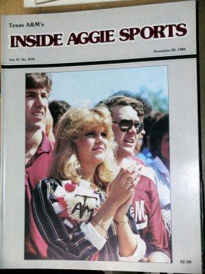 Jackie Sherrill RC Slocum Texas A&M Football Inside Aggie Sports November 20, 1982 Vol IV No. XVII