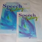 Homeschool Abeka Speech for Today Junior High/ High School #69922  & #69930