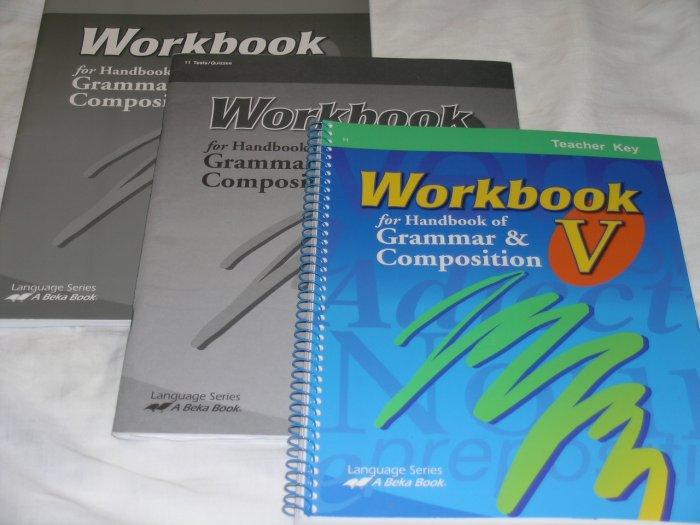 Homeschool Abeka Grammar and Composition V 11th Grade #73563 73571 73733