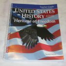 Homeschool Abeka U.S. History Heritage of Freedom Grade 11 2nd ed Teacher Guide with Curriculum