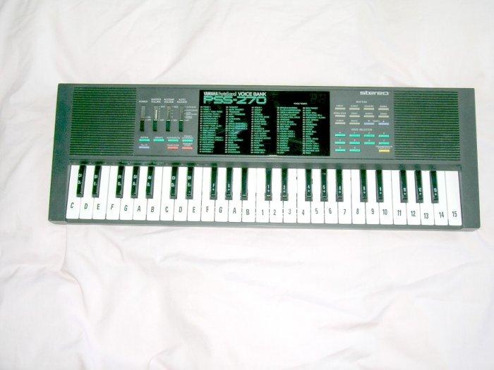 Vintage Yamaha PortaSound PSS-270 Voice Bank Keyboard Circuit bending Original owner