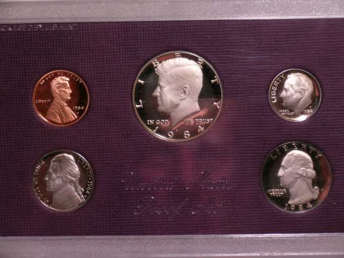United States Proof Set 1984 original Prf 65+