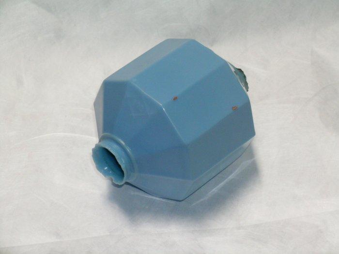 D & S Blue Milk Glass Lightning Rod Ball LRB  10 sided