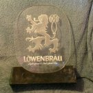 Löwenbräu Lowenbrau light beer breweriana acrylic 1978 Lakeside Ltd Miller Brewing Rampant Lion