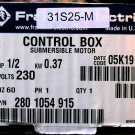 New Franklin well control box 1/2 HP single phase 115 V  #280-104-4915