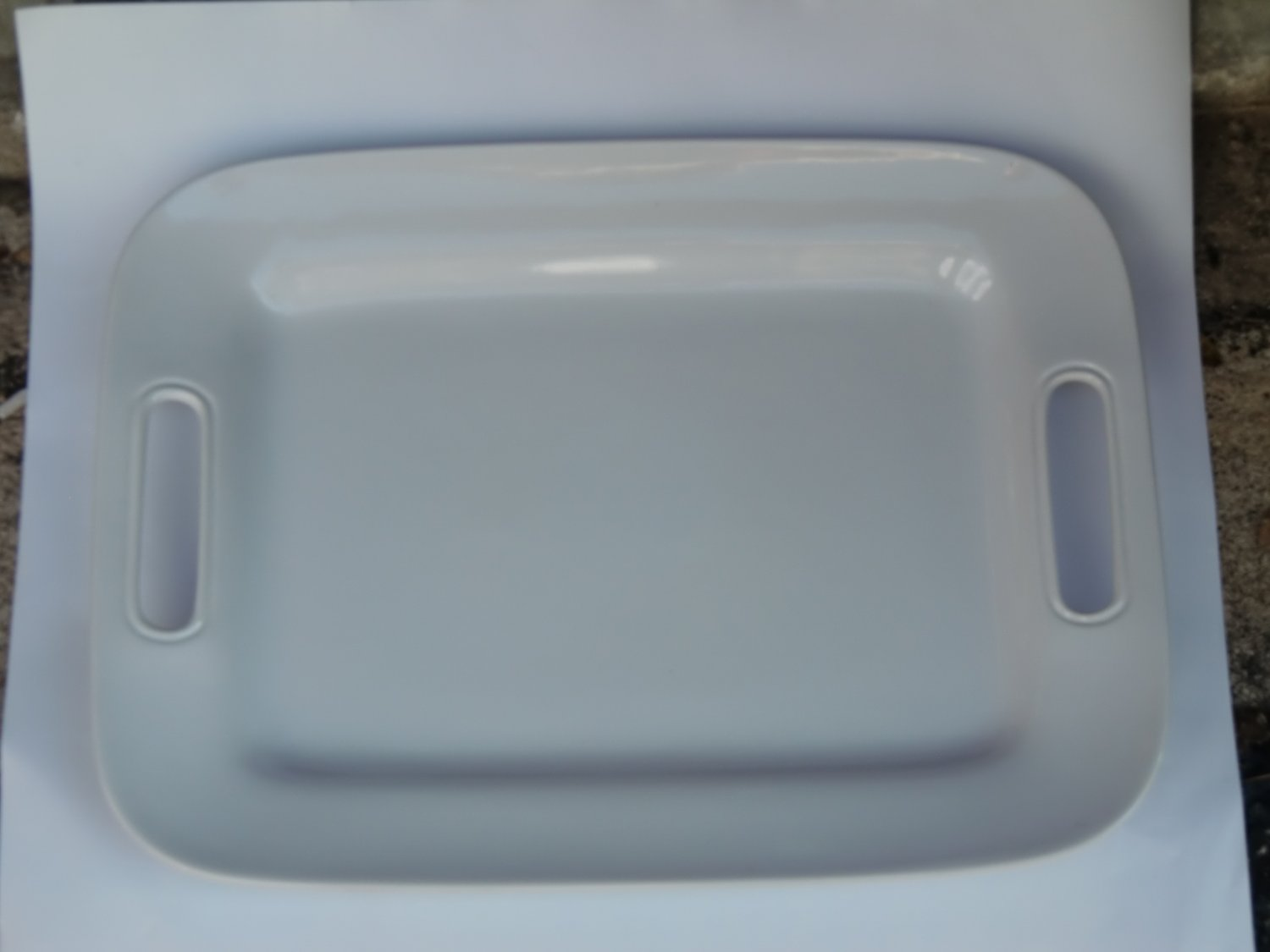Pampered Chef Simple Additions Like New Large Rectangular Serving Platter with Handles #2026, White